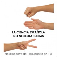 Logotipo de la campaa &quot;La ciencia espaola no necesita tijeras&quot;, contra los recortes en ciencia y tecnologa. (Clic para ampliar)